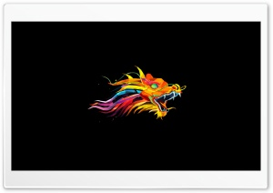 Pixel Dragon HD Wide Wallpaper for Widescreen