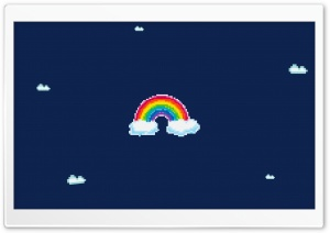 Pixel Rainbow HD Wide Wallpaper for Widescreen