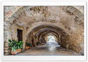 Placa de les Voltes Peratallada, Catalonia Ultra HD Wallpaper for 4K UHD Widescreen desktop, tablet & smartphone