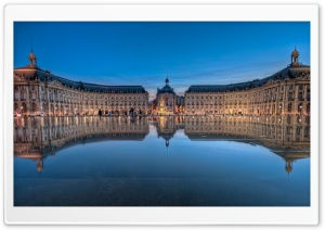 Place De La Bourse In Bordeaux, France HD Wide Wallpaper for Widescreen