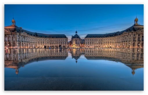 Place De La Bourse In Bordeaux, France HD wallpaper for Wide 16:10 5:3 Widescreen WHXGA WQXGA WUXGA WXGA WGA ; HD 16:9 High Definition WQHD QWXGA 1080p 900p 720p QHD nHD ; Mobile 5:3 16:9 - WGA WQHD QWXGA 1080p 900p 720p QHD nHD ;
