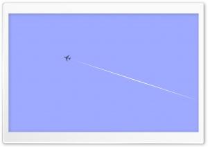 Plane Flying Vector Art Ultra HD Wallpaper for 4K UHD Widescreen desktop, tablet & smartphone