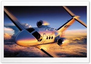 Plane, Sky, Altitude, Flight HD Wide Wallpaper for Widescreen