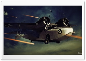 Planes in War HD Wide Wallpaper for Widescreen