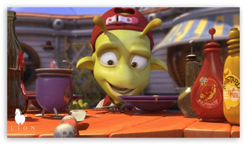 Planet 51 Movie I HD wallpaper for HD 16:9 High Definition WQHD QWXGA 1080p 900p 720p QHD nHD ; Mobile 16:9 - WQHD QWXGA 1080p 900p 720p QHD nHD ;