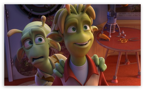 Planet 51 Movie II HD wallpaper for Wide 5:3 Widescreen WGA ; HD 16:9 High Definition WQHD QWXGA 1080p 900p 720p QHD nHD ; Mobile 5:3 16:9 - WGA WQHD QWXGA 1080p 900p 720p QHD nHD ;