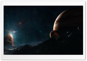 Planet Close To Jupiter Ultra HD Wallpaper for 4K UHD Widescreen desktop, tablet & smartphone