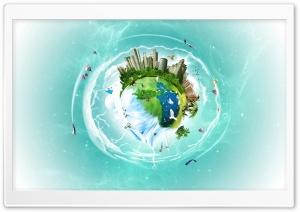 Planet Earth Fantasy HD Wide Wallpaper for Widescreen