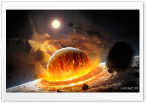 Planet Impact HD Wide Wallpaper for Widescreen