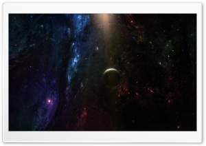 Planet In Deep Space HD Wide Wallpaper for 4K UHD Widescreen desktop & smartphone