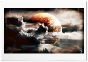 Planet in the Clouds HD Wide Wallpaper for Widescreen