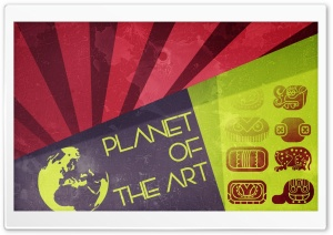 Planet Of The Art HD Wide Wallpaper for Widescreen