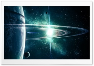 Planet Rings Art Ultra HD Wallpaper for 4K UHD Widescreen desktop, tablet & smartphone