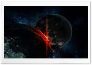 Planetary Collision HD Wide Wallpaper for Widescreen