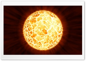 Planetary Core Explosion HD Wide Wallpaper for Widescreen