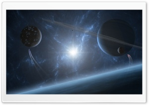 Planetary Rings HD Wide Wallpaper for Widescreen