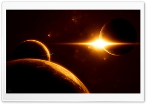 Planets And Sun HD Wide Wallpaper for Widescreen