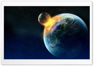 Planets Collide HD Wide Wallpaper for Widescreen