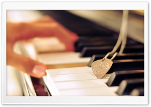 Playing Piano HD Wide Wallpaper for Widescreen