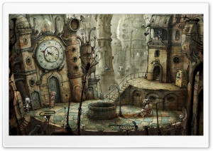 Plaza, Machinarium Game HD Wide Wallpaper for Widescreen
