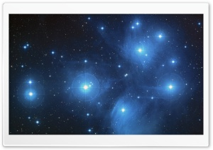 Pleiades Star Cluster HD Wide Wallpaper for Widescreen