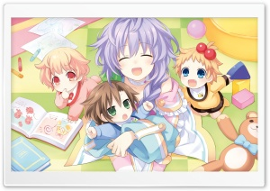 Plutia And Babies HD Wide Wallpaper for Widescreen