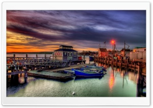 Plymouth Harbor HDR HD Wide Wallpaper for Widescreen