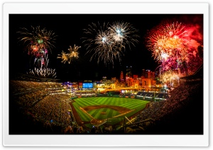 PNC Park Fireworks HD Wide Wallpaper for Widescreen