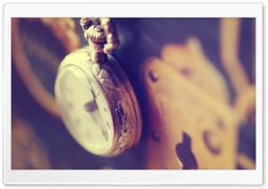Pocket Watch Hanging HD Wide Wallpaper for Widescreen
