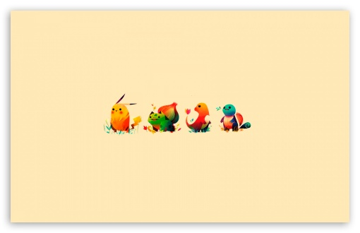 Pokemon   Bulbasaur, Pikachu, Charmander, Squirtle HD wallpaper for Wide 16:10 5:3 Widescreen WHXGA WQXGA WUXGA WXGA WGA ; HD 16:9 High Definition WQHD QWXGA 1080p 900p 720p QHD nHD ; Standard 4:3 5:4 3:2 Fullscreen UXGA XGA SVGA QSXGA SXGA DVGA HVGA HQVGA devices ( Apple PowerBook G4 iPhone 4 3G 3GS iPod Touch ) ; Tablet 1:1 ; iPad 1/2/Mini ; Mobile 4:3 5:3 3:2 16:9 5:4 - UXGA XGA SVGA WGA DVGA HVGA HQVGA devices ( Apple PowerBook G4 iPhone 4 3G 3GS iPod Touch ) WQHD QWXGA 1080p 900p 720p QHD nHD QSXGA SXGA ;