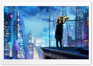 POKEMON Detective Pikachu Ultra HD Wallpaper for 4K UHD Widescreen desktop, tablet & smartphone