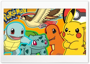 Pokemon Gang HD Wide Wallpaper for 4K UHD Widescreen desktop & smartphone