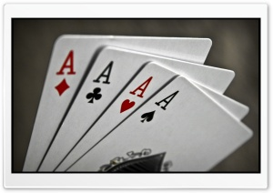 Poker Aces HD Wide Wallpaper for 4K UHD Widescreen desktop & smartphone