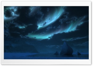 Polar Night 3D HD Wide Wallpaper for Widescreen