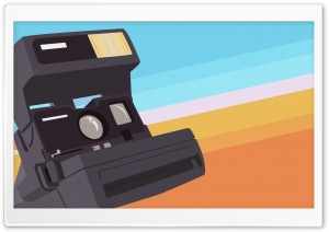 Polaroid Camera Vector Art HD Wide Wallpaper for Widescreen