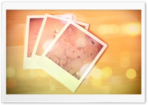 Polaroid Photos Bokeh HD Wide Wallpaper for Widescreen