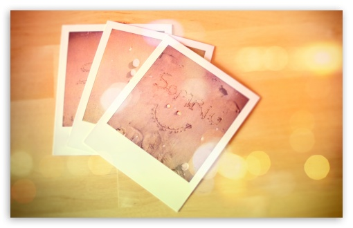 Download Polaroid Photos Bokeh HD Wallpaper