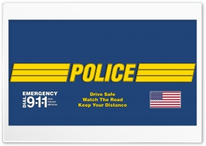 Police Drive Safe HD Wide Wallpaper for Widescreen