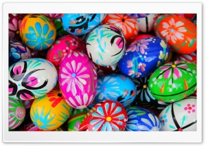 Polish Pisanki Easter Eggs HD Wide Wallpaper for Widescreen