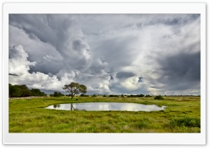 Pond And Storm Clouds HD Wide Wallpaper for Widescreen