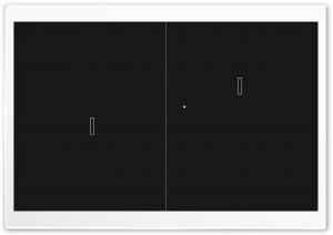 Pong Game HD Wide Wallpaper for Widescreen