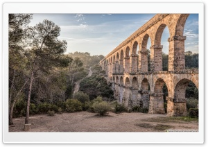 Pont del Diable Ferreres Aqueduct, Tarragona HD Wide Wallpaper for 4K UHD Widescreen desktop & smartphone