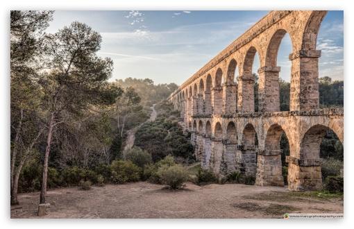 Download Pont del Diable Ferreres Aqueduct, Tarragona HD Wallpaper
