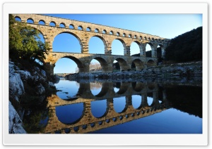 Pont Du Gard, France HD Wide Wallpaper for 4K UHD Widescreen desktop & smartphone