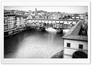 Ponte Vecchio bridge in Florence, Italy HD Wide Wallpaper for Widescreen