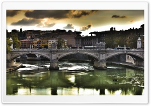 Ponte Vittorio Rome HD Wide Wallpaper for Widescreen