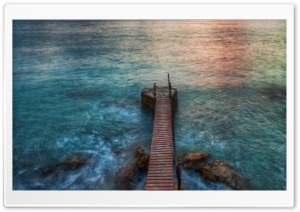 Pontoon HDR HD Wide Wallpaper for Widescreen