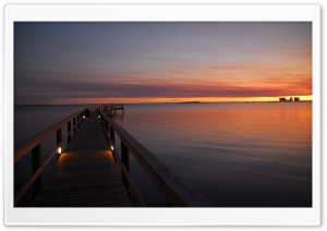 Pontoon In The Sunset HD Wide Wallpaper for Widescreen