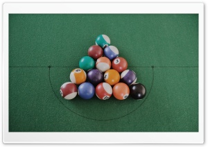 Pool Balls HD Wide Wallpaper for Widescreen