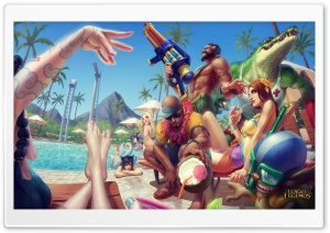 Pool Party - League of Legends HD Wide Wallpaper for Widescreen